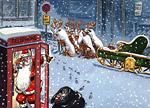 Дядо Коледа паркирал неправилно