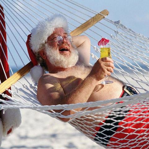 Дядо Коледа на почивка
