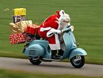 Дядо Коледа на мотор