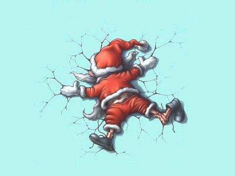 Размазан Дядо Коледа