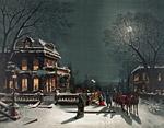 Рисунка на квартал на Бъдни вечер
