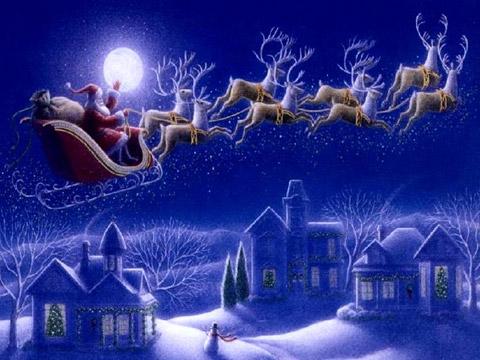 Дядо Коледа отива на работа на Бъдни вечер