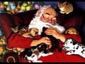 Дядо Коледа с животинки
