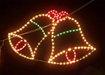 Коледни камбанки от лампички