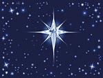 Рисувана коледна звезда