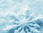 Снежинка заровена в сняг