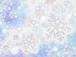 Снежинки и цветя