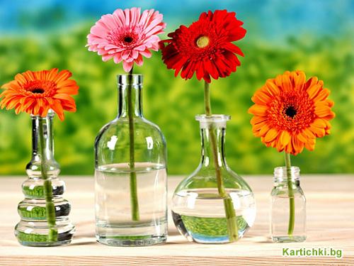 Цветя във вази