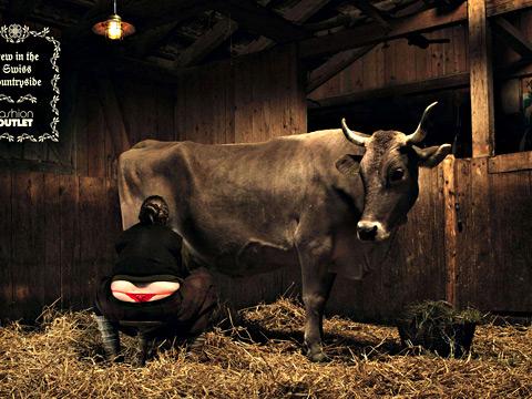 Крава и жена