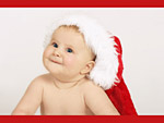 Бебе с шапка на Дядо Коледа