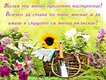 Желая ти много пролетно настроение