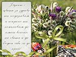 Букет с цветя за здраве ти подарявам