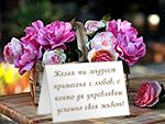 Желая ти мъдрост примесена с любов