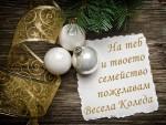 На теб и твоето семейство пожелавам Весела Коледа