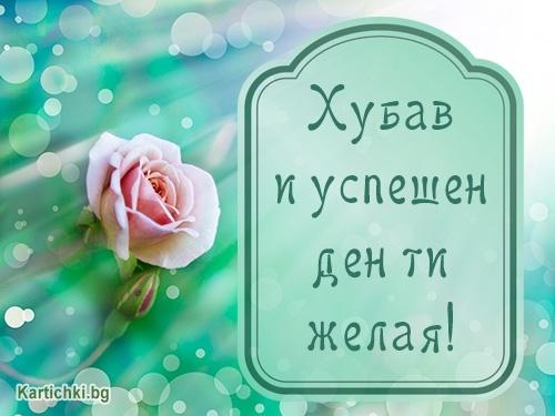 Хубав и успешен ден ти желая