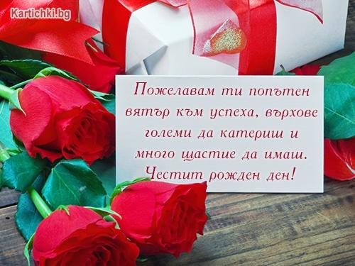 Пожелавам ти попътен вятър към успеха