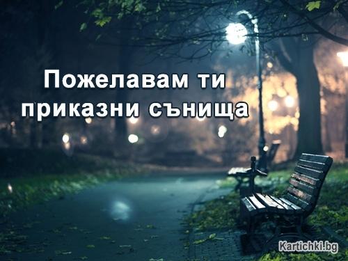 Пожелавам ти приказни сънища