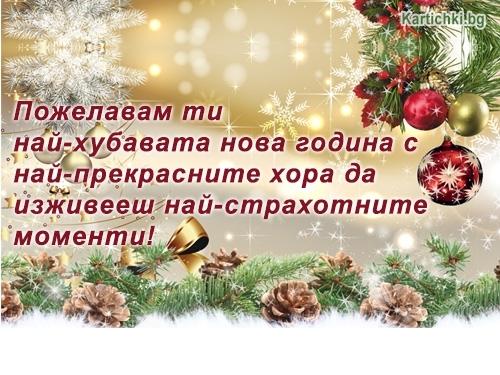 Пожелавам ти най-хубавата нова година с най-прекрасните хора