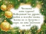 Честита нова година! Пожелавам ти здраве и любов
