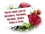 Честит имен ден на Антоанета, Антонина, Антония, Донка, Тонка и Тотка