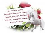 Честит имен ден на Божидар, Божидара, Дора, Дорина, Доротея, Теодор, Теодора, Теодорина, Тодор, Тодора, Тодорка