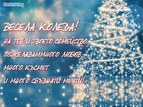 Весела Коледа на теб и твоето семейство