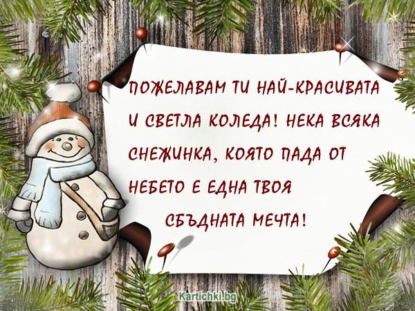 Пожелавам ти Светла Коледа