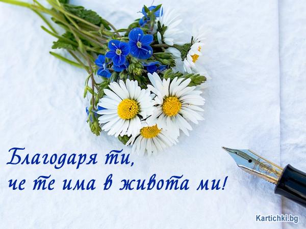 Благодаря ти, че те има в живота ми!
